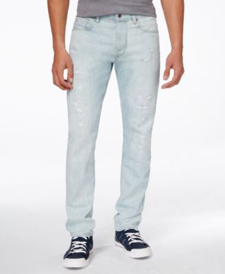 GStar Men's 3301 Tapered-Fit Light Aged Jeans