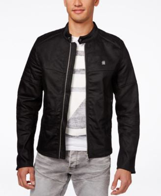 GStar Men's Black Denim Moto Jacket
