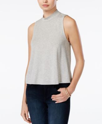 Bar III Mock-Turtleneck Flyaway Tank Top, Only at Vogily