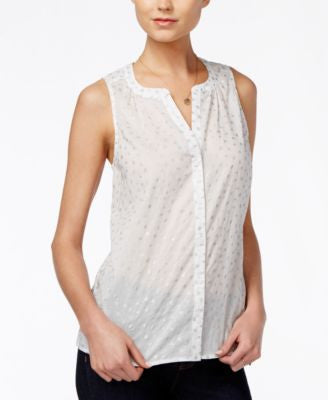 Maison Jules Sheer Foil-Print Top, Only at Vogily