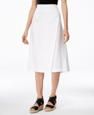 Eileen Fisher Faux-Wrap Midi Skirt