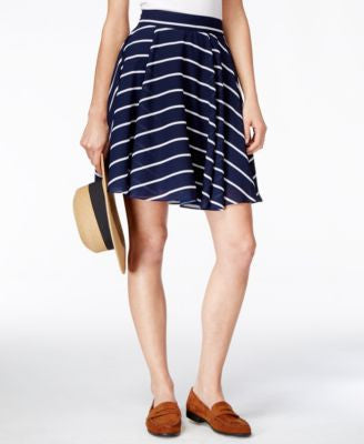 Maison Jules Striped Circle Skirt, Only at Vogily