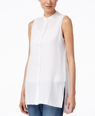 Eileen Fisher Sleeveless Tunic Shirt