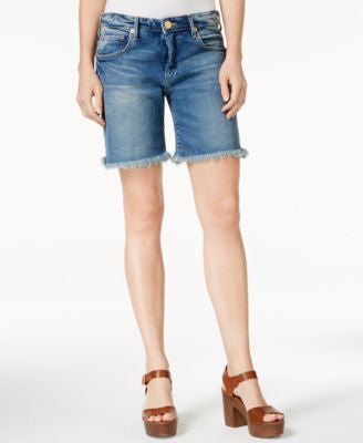 True Religion Emma Denim Bermuda Shorts