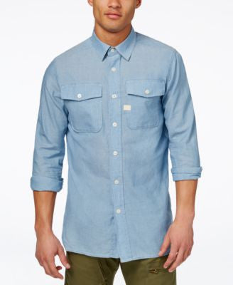 GStar Men's Chambray Long-Sleeve Shirt