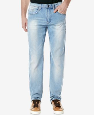 Buffalo David Bitton Men's Driven-X Straight Relaxed-Fit Light Blue Stretch Jeans