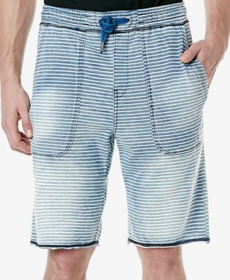 Buffalo David Bitton Men's Fisley Stripe Faux-Fleece Shorts