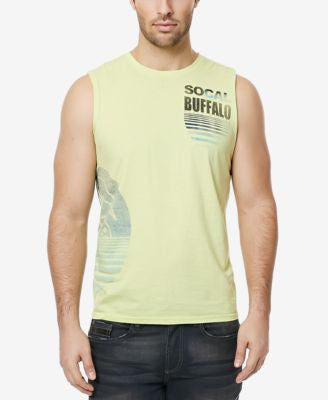 Buffalo David Bitton Men's Niboard Graphic-Print Logo Muscle Shirt