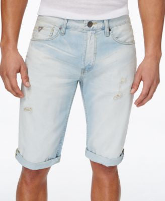 GUESS Men's Classic-Fit Sand Drift Jean Shorts