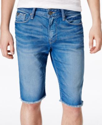GUESS Men's Slim-Fit Cutoff Golden Ray Jean Shorts
