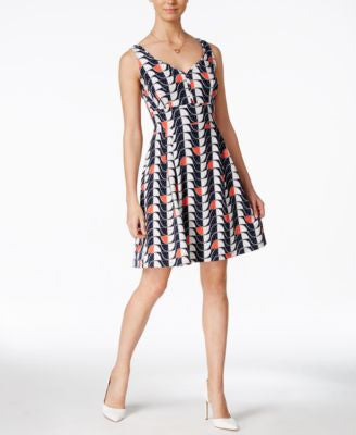 Maison Jules Printed Fit & Flare Dress, Only at Vogily