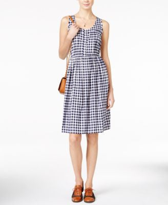 Maison Jules Sleeveless Gingham Dress, Only at Vogily