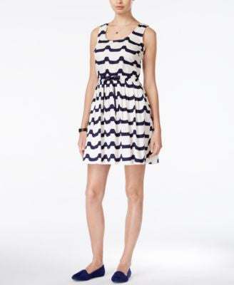 Maison Jules Wave-Print Fit & Flare Dress, Only at Vogily