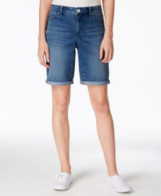 Maison Jules Cuffed Denim Bermuda Shorts, Only at Vogily
