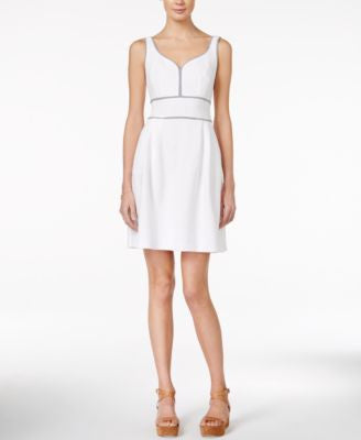 Maison Jules Sweetheart-Neck Fit & Flare Dress, Only at Vogily