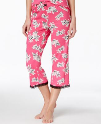 Jenni by Jennifer Moore Rose-Print Capri Pajama Pants, Only at Vogily