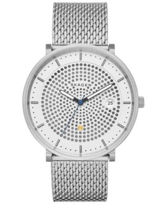 Skagen Men's Solar Hald Stainless Steel Mesh Bracelet Watch 40mm SKW6278