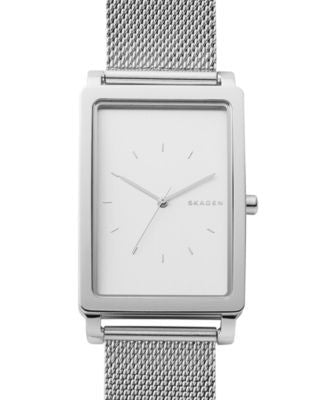 Skagen Men's Hagen Stainless Steel Mesh Bracelet Watch 30x49mm SKW6288