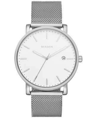 Skagen Men's Hagen Stainless Steel Mesh Bracelet Watch 40mm SKW6281