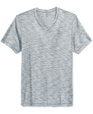 INC International Concepts Men's Frankfurt Feeder-Stripe V-Neck T-Shirt, Only at Vogily