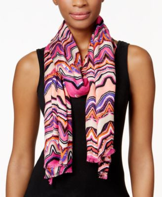 INC International Concepts Waveburst Print Pashmina Wrap, Only at Vogily