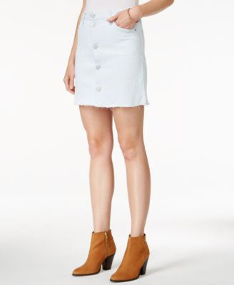 Hudson Jeans Button-Front Denim Skirt