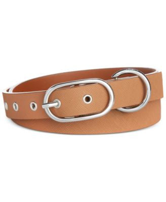 Anne Klein Saffiano Panel Belt