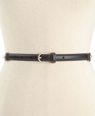 MICHAEL Michael Kors Chain Back Skinny Belt