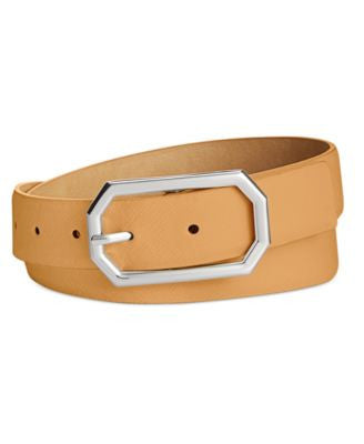 Style & Co. Octagonal Buckle Pant Belt, Only at Vogily