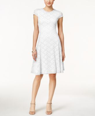 Alfani Lace Fit & Flare Dress, Only at Vogily