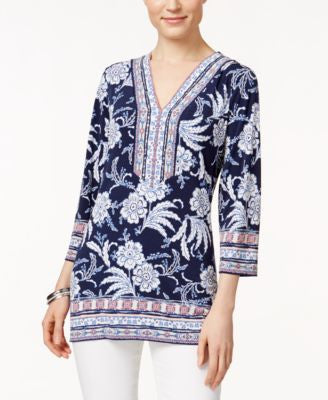 JM Collection Printed Embellished Tunic, Only at Vogily