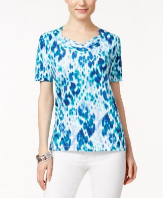 Alfred Dunner Printed Short-Sleeve Top