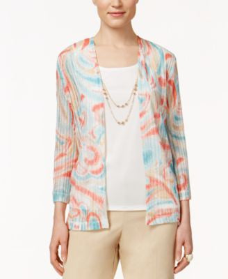 Alfred Dunner Printed Layered-Look Top