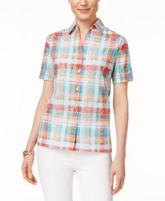 Alfred Dunner Plaid Short-Sleeve Shirt