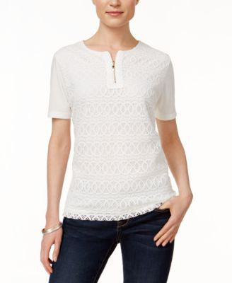 Alfred Dunner Short-Sleeve Lace Top