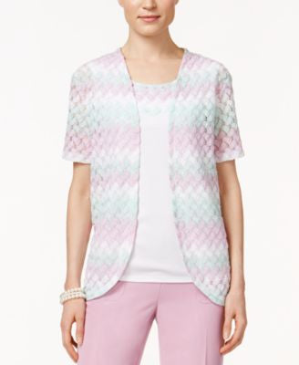 Alfred Dunner Knit Layered-Look Top
