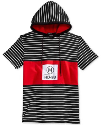 Hudson NYC Men's Yacht Club Stripe Hoodie T-Shirt