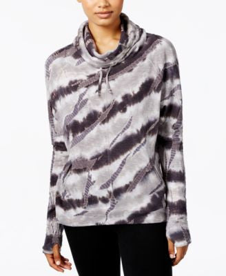Betsey Johnson Tie-Dyed Funnel-Neck Sweatshirt