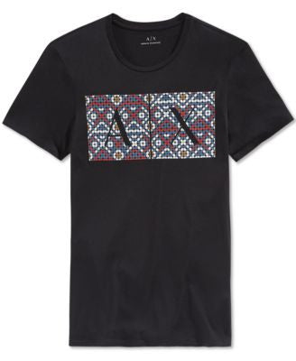Armani Exchange Men's Native Graphic-Print Logo T-Shirt
