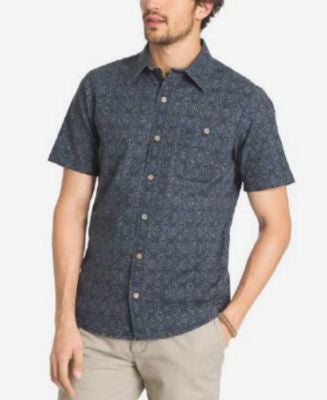 G.H. Bass & Co. Men's Tile-Print Short-Sleeve Shirt