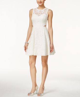 Xscape Cutout Lace Illusion Dress