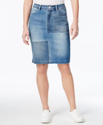 Vintage America Judy Patchwork Denim Skirt