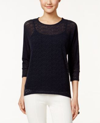 Alfani Petite Textured Dolman-Sleeve Top, Only at Vogily