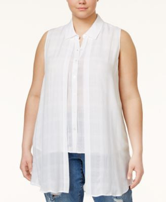 RACHEL Rachel Roy Curvy Trendy Plus Size Layered Tunic Shirt