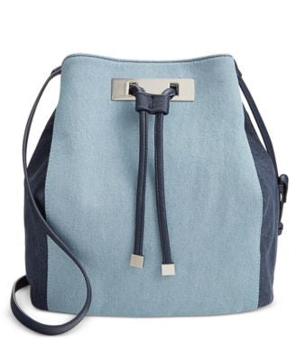 INC International Concepts Modie Denim Drawstring Bag, Only at Vogily