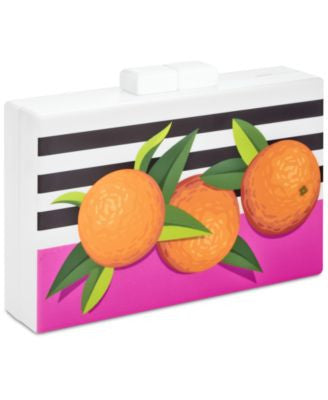 INC International Concepts Trinaa Orange Clutch, Only at Vogily