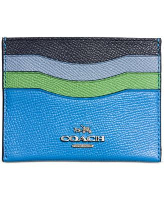 COACH Boxed Set Flat Card in Colorblock Leather