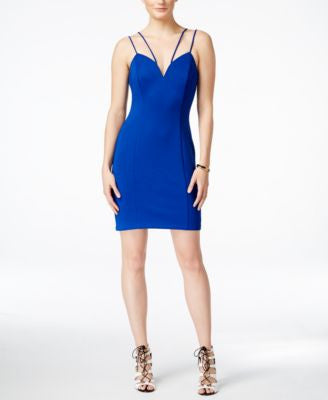 GUESS Sweetheart-Neck Scuba Bodycon Dress