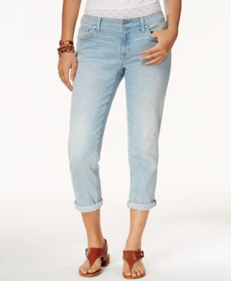 Tommy Hilfiger Paint-Splattered Boyfriend Jeans