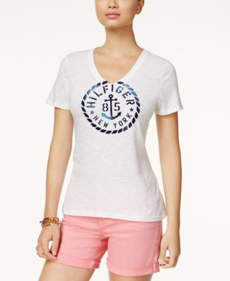 Tommy Hilfiger V-Neck Graphic T-Shirt